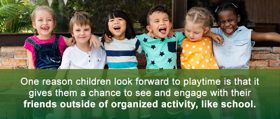 Kids Engage With Friends Outside Of Organized Activity