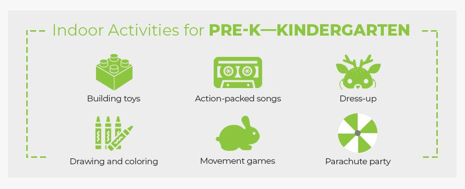 Indoor Activities For Pre-K Through Kindergarten