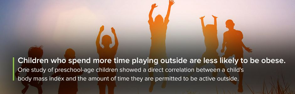 Children that spend more time outside are less obese