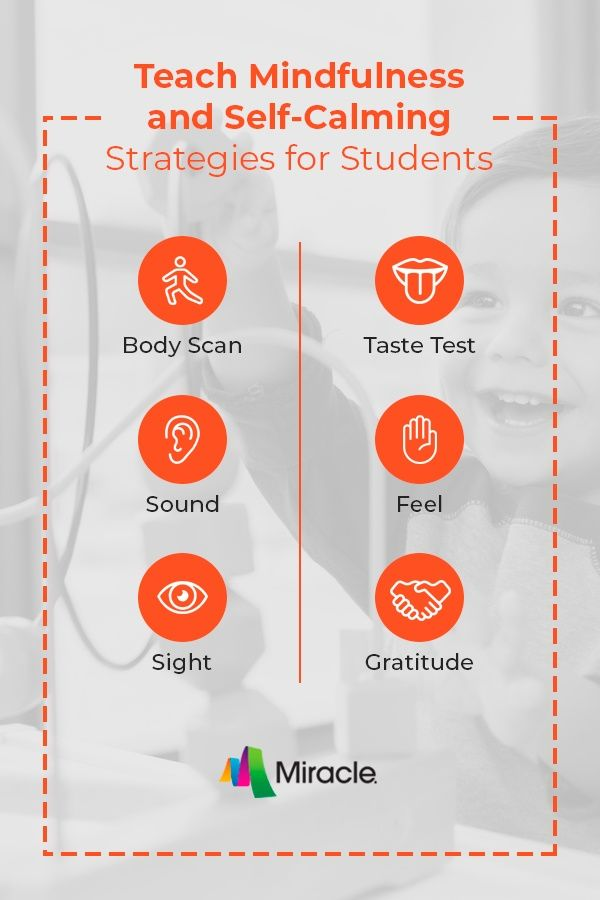 Teach Mindfulness And Self-Calming Strategies For Students