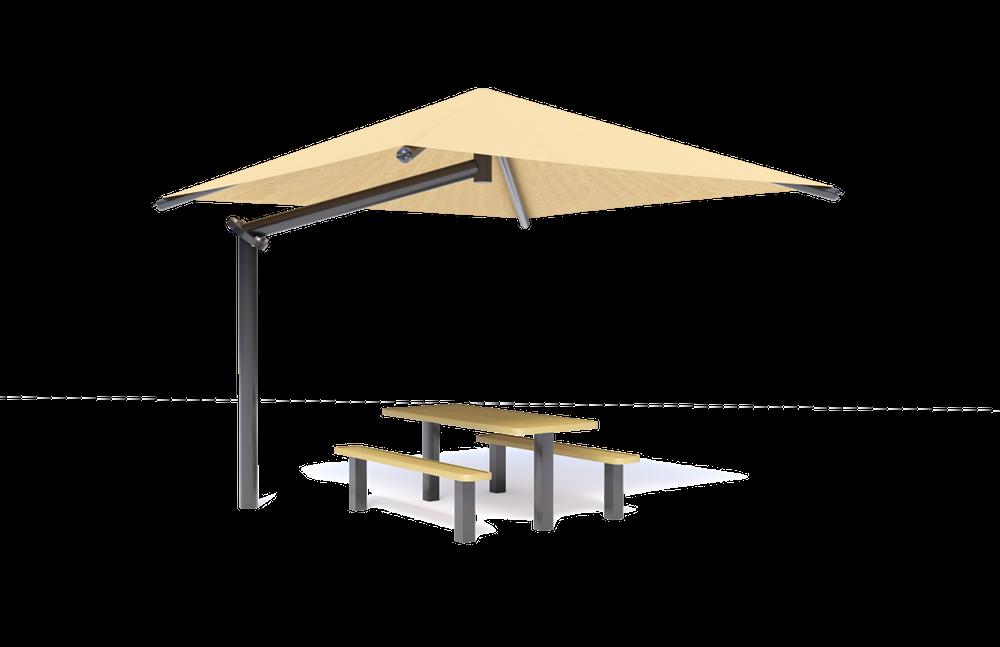 Play Shade Single Post Pyramid Cantilever (MRPSP021)