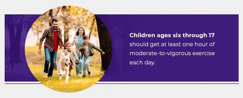 Children Ages 6 Through 17 Should Get At Least One Hour Of Moderate Exercise Each Day