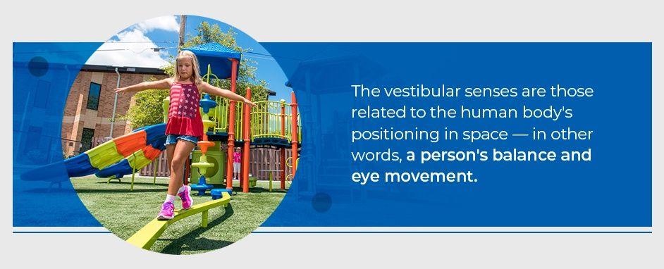 Young Girl Engaging In Vestibular Play