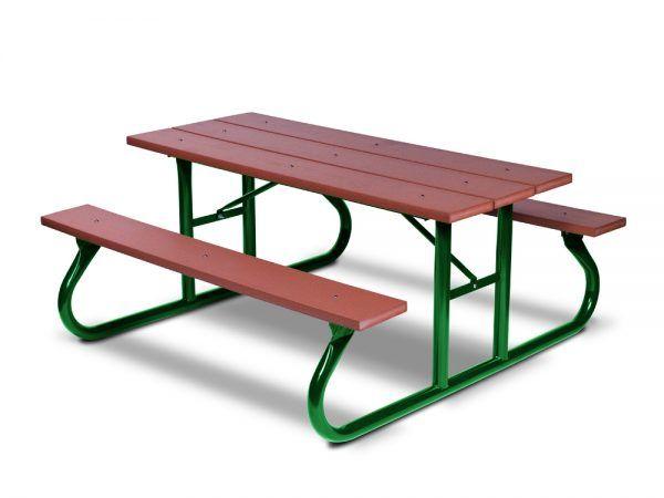 6' Recycled Plastic Picnic Table - Portable (MRGV106G)