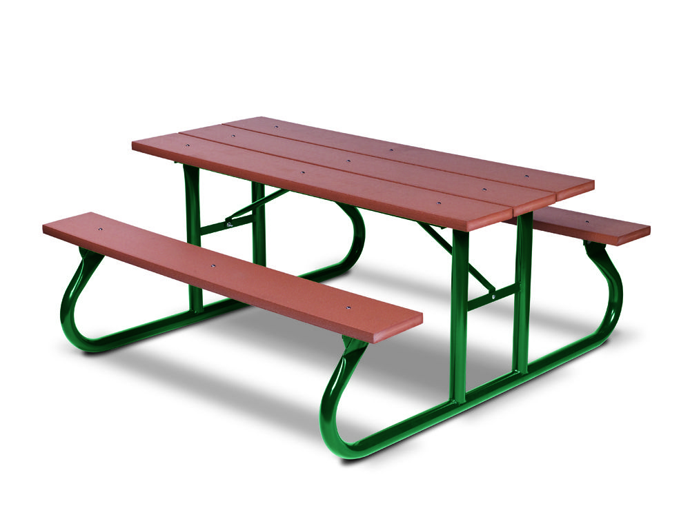 6' Recycled Plastic Picnic Table - Portable (MRGV106G)