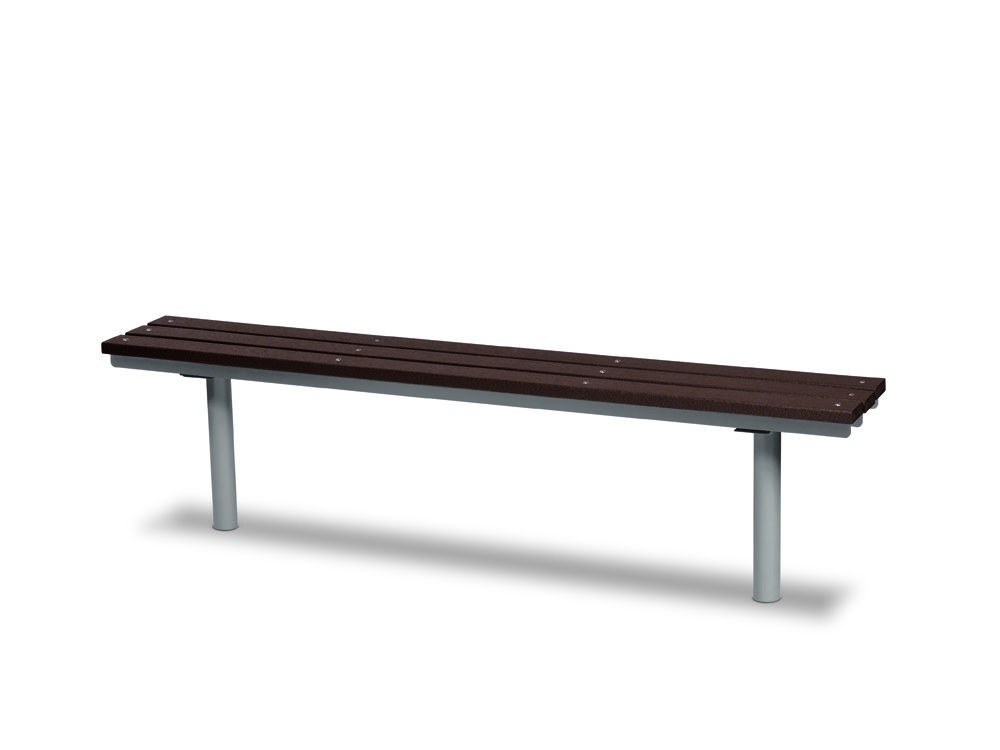 6' Recycled Plastic Plank Bench without Back - In-ground (MRGV304G)