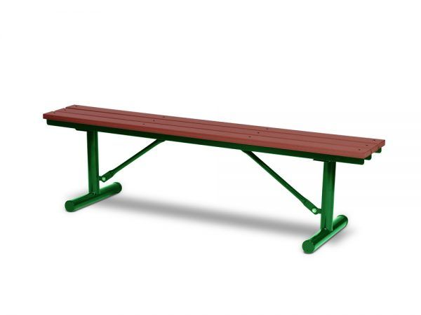 6' Recycled Plastic Plank Bench without Back - Portable (MRGV302G)