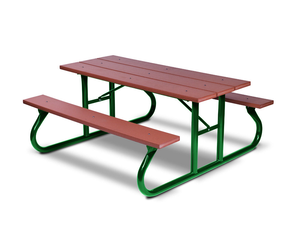 8' Recycled Plastic Picnic Table - Portable (MRGV111G)