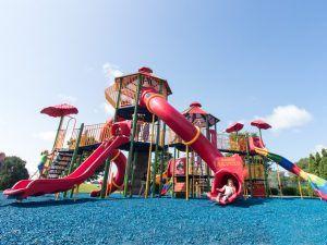 Upward view of Ahrens Park playground