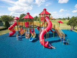 Colorful Ahrens Park playground