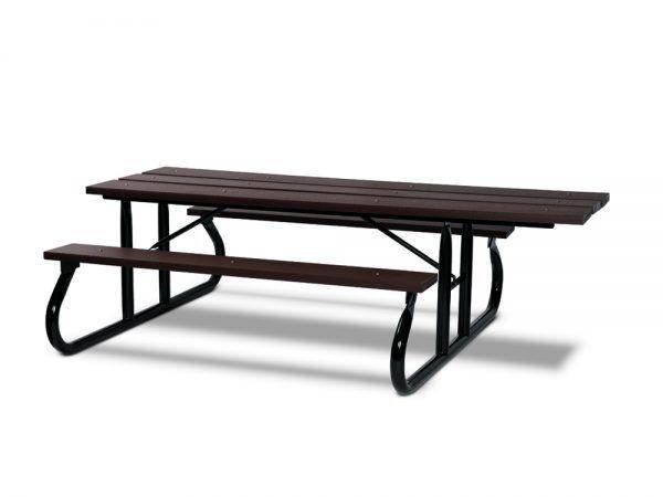 ADA 8' Recycled Plastic Picnic Table - Portable (MRGV115G)