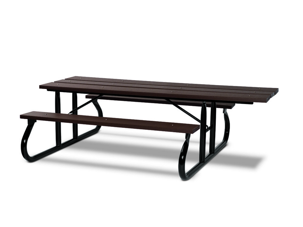 ADA 8' Recycled Plastic Picnic Table - Portable (MRGV115G)