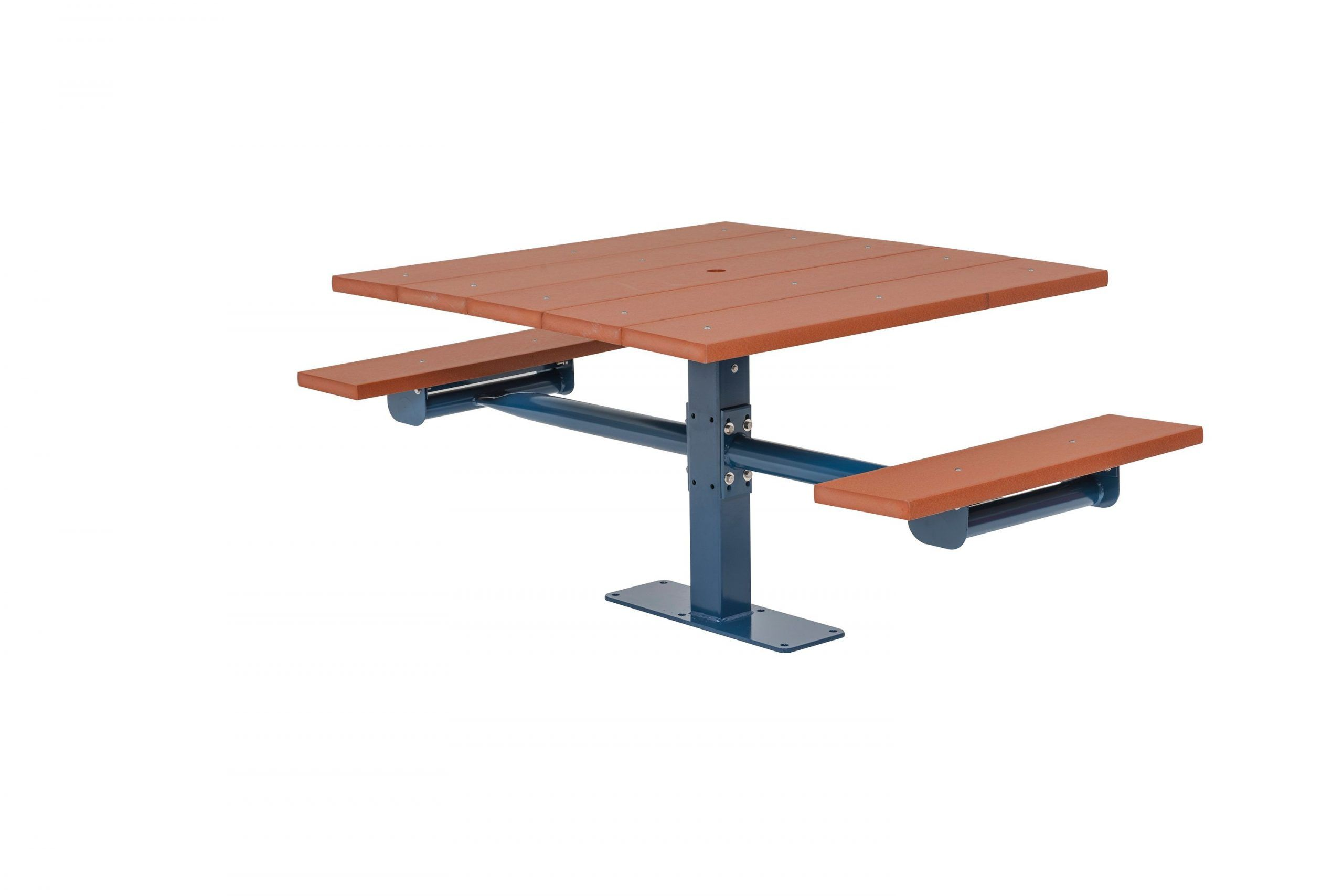 Square Recycled Plastic Table with Two Seats - Surface Mount (MRGV245G)