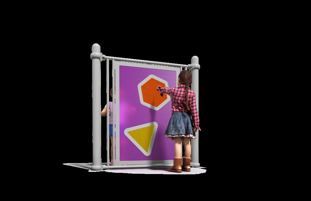 Pink playground sensory wall