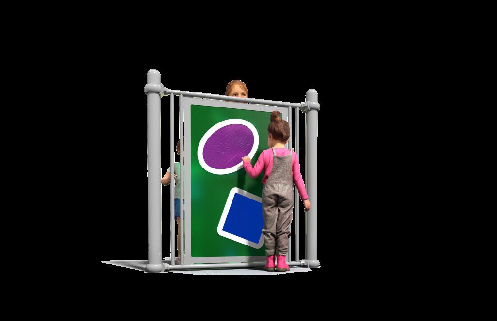 Green sensory playground equipment