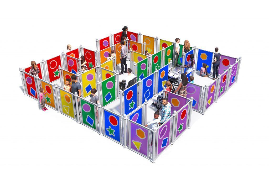Sensory playground equipment maze