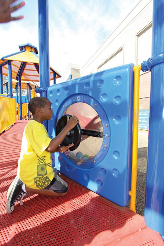 Child engaging with sensory play