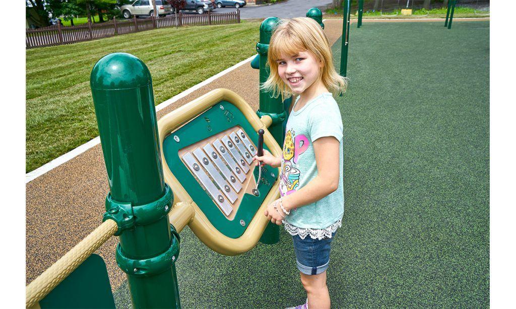 Xylophon outdoor sensory playground equipment