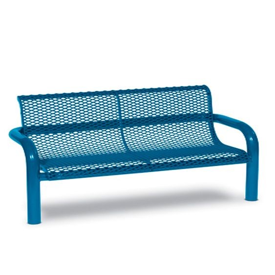 6' Contemporary Bench with Back - Diamond - In-ground (MRCN430D)