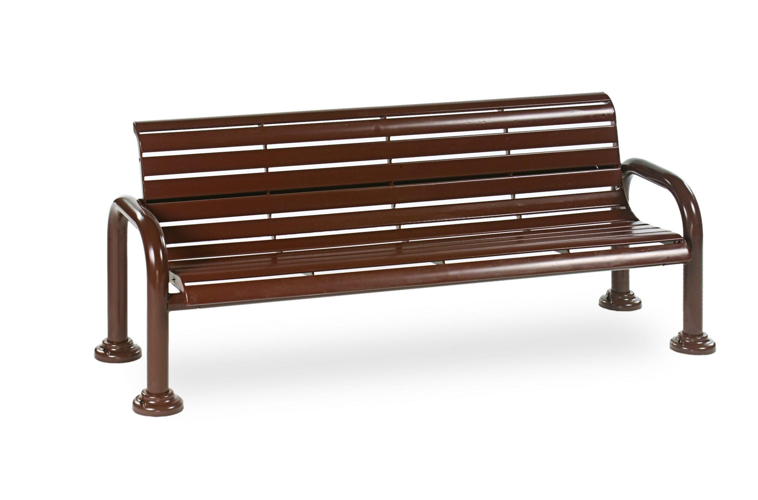 6' Contemporary Bench with Back - Slat - Portable/Surface Mount (MRCN420S)