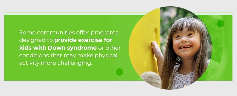 Some Communities Provide Exercise For Kids With Down Syndrome