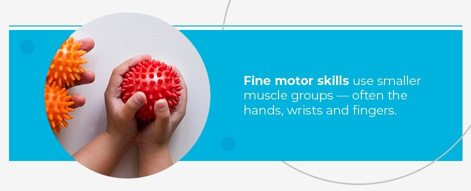 Fine Motor Skills Use Smaller Muscle Groups