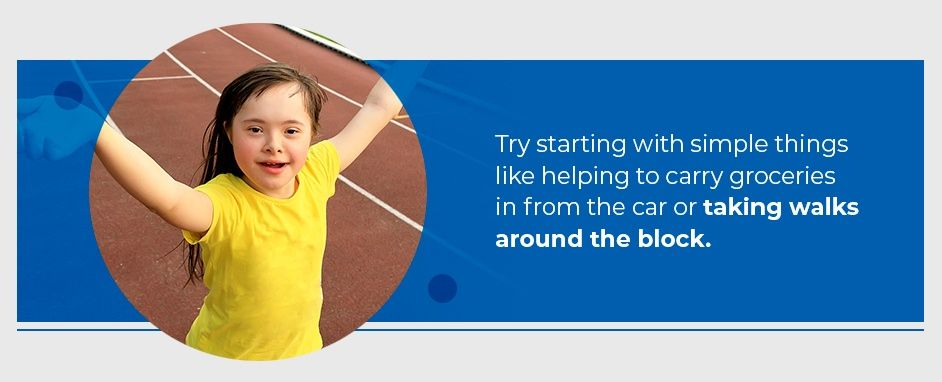 Try Simple Exercises With Kids Who Have Down Syndrome