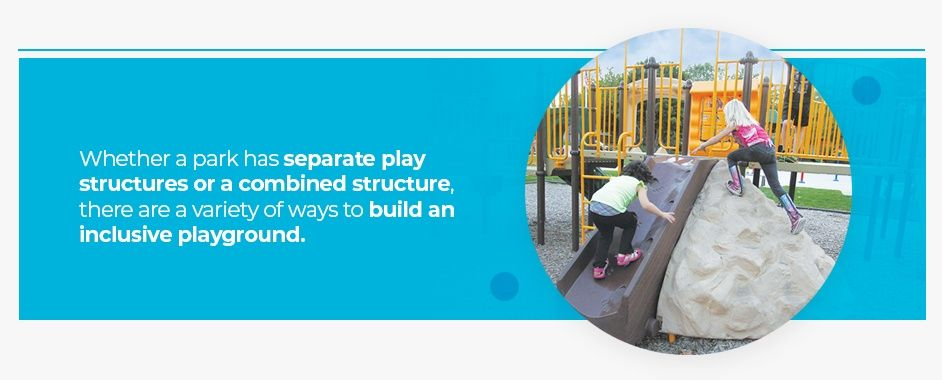 Separate play structures for parks