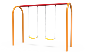 Arch Swings with 1-Bay, 2 Belt Seats
