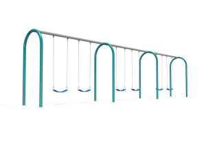 Arch Swings with 3 Bays, 6 Belt Seats (7188526SW)