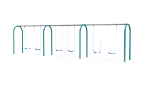 Arch Swings with 3 Bays, 6 Belt Seats