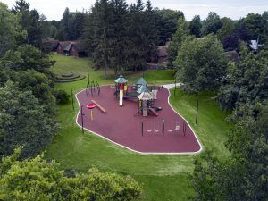Aerial view of Miracle Recreation park in Rochester NY