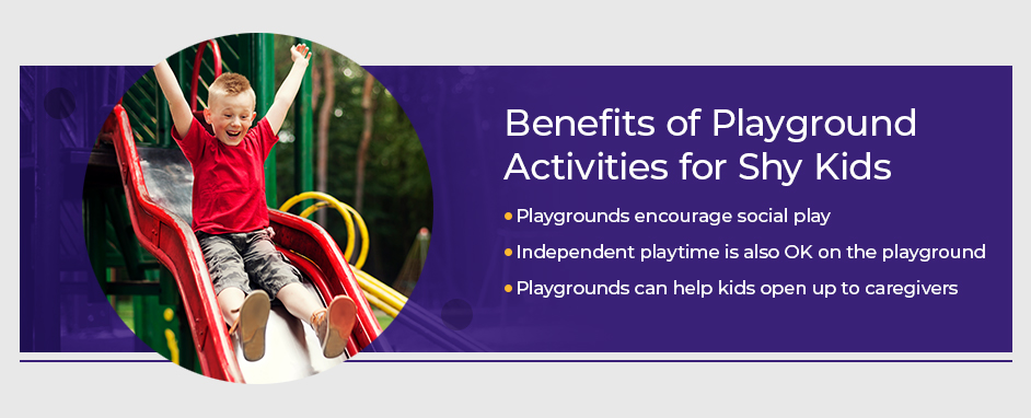 Benefits of playground activities for shy kids