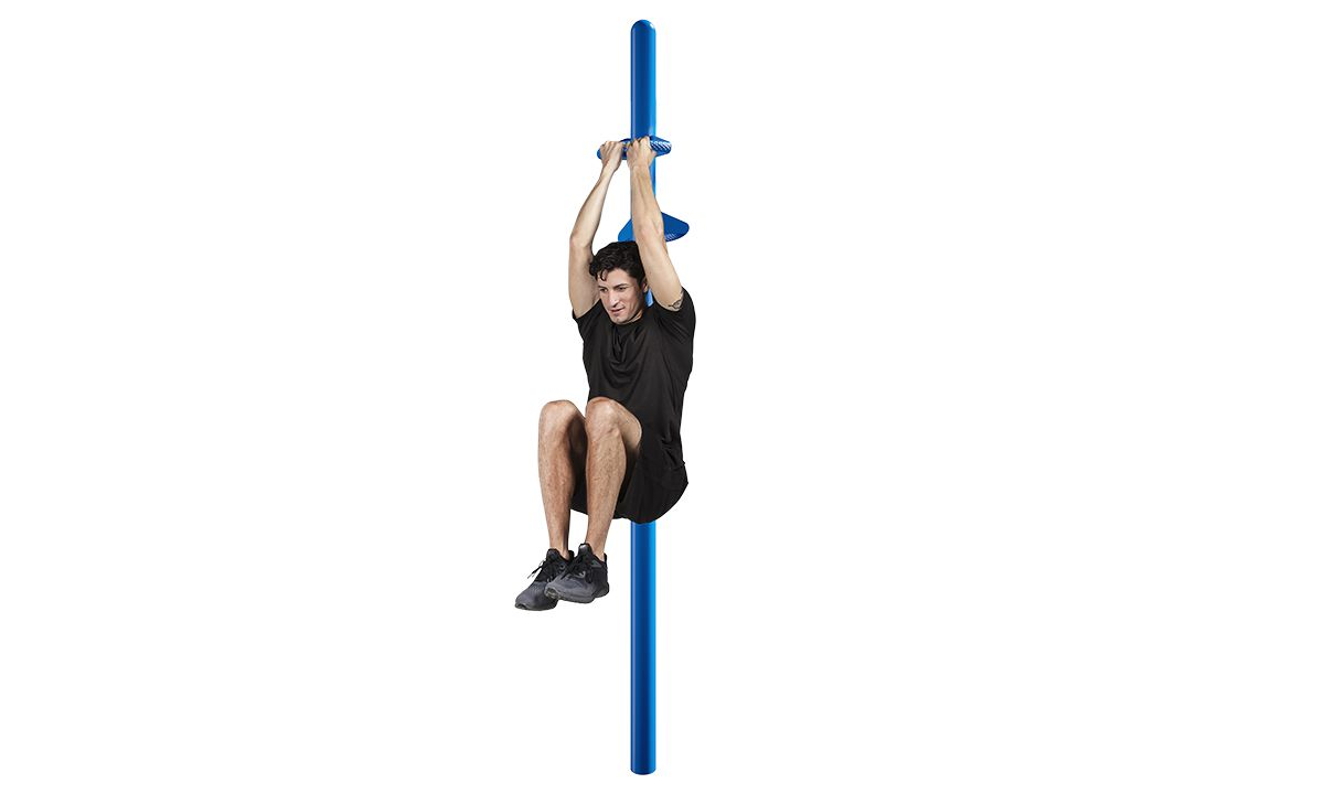 Outdoor fitness equipment leg lift