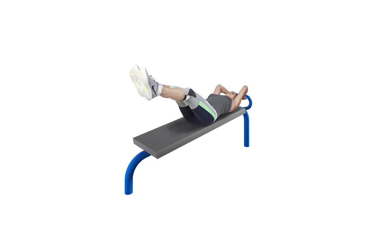 Body curl outdoor fitness equipment