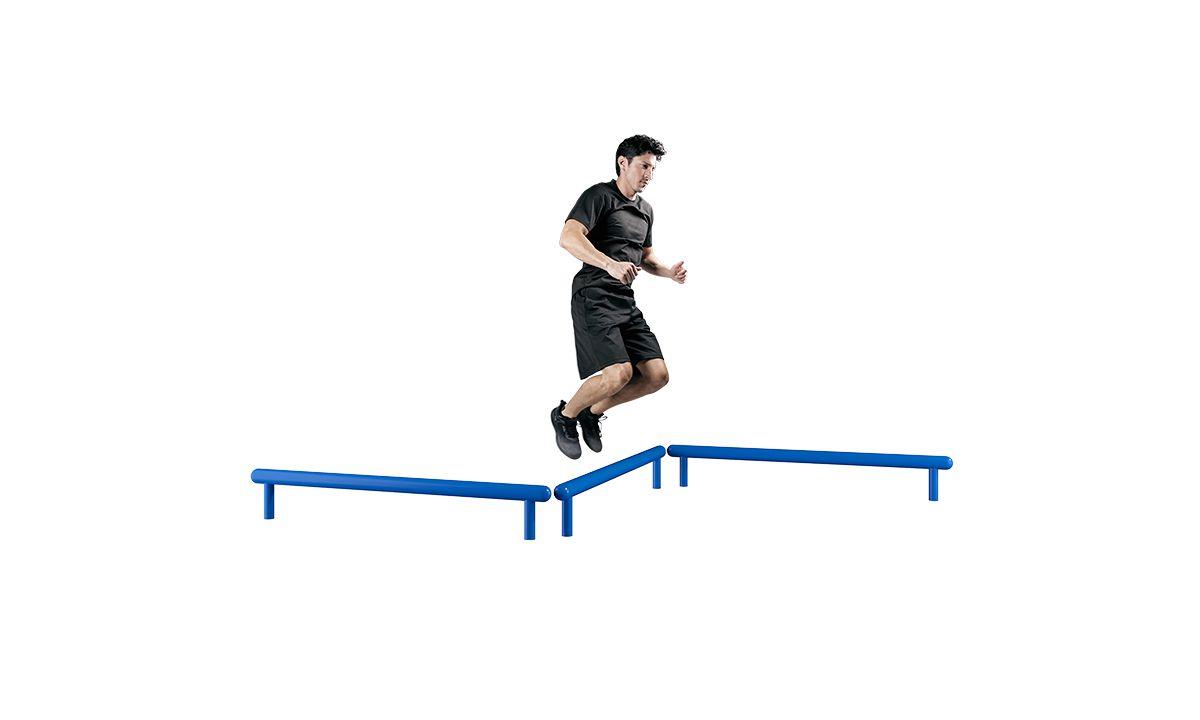 Beam jump outdoor fitness equipment