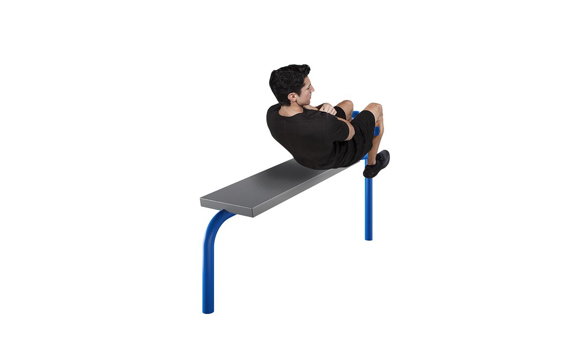 Outdoor sit up station