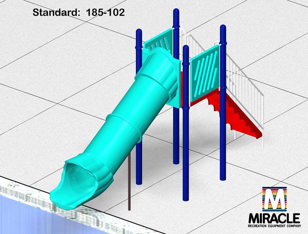 Pool Slide, 1 Flume