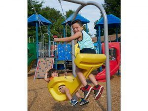 Generation swing seat for playgrounds