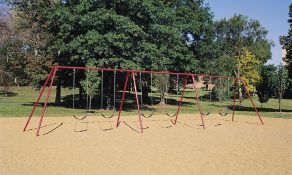 Swings with a 2-Leg Frame and 6 Belt Seats (Painted)