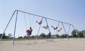 Swings with a 2-Leg Frame and 6 Belt Seats (Galvanized)