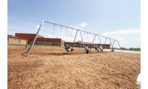 Swings with a 2-Leg Frame and 8 Belt Seats (Galvanized)