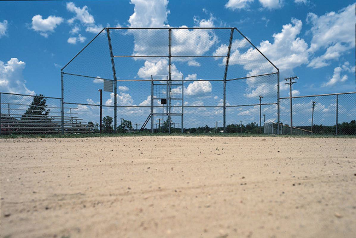 Baseball Backstop with Hood