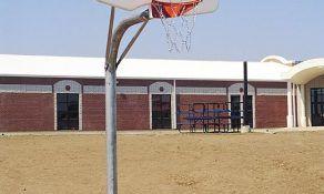 Complete Basketball Goal with Chain Net and Steel Fan-Shaped Backboard