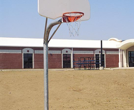 Complete Basketball Goal with Chain Net and Steel Fan-Shaped Backboard