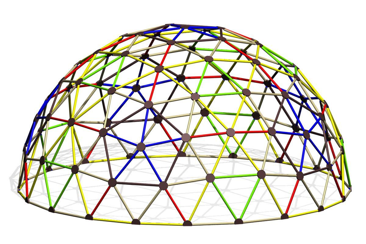 Geodesic climber for commercial playgrounds