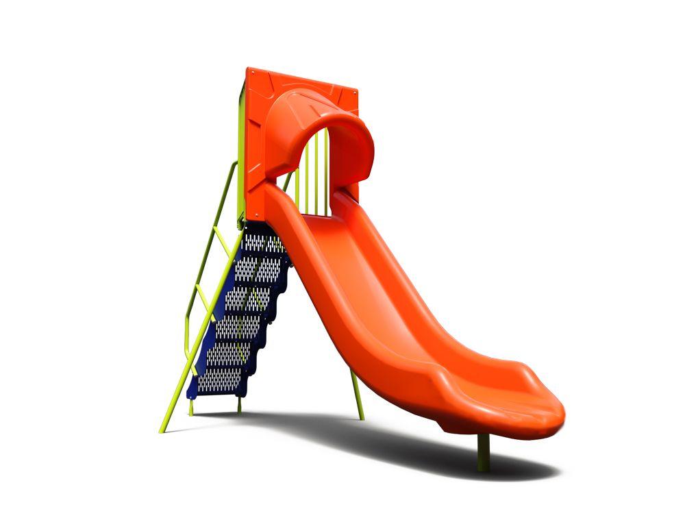 Freestanding commercial groove slide