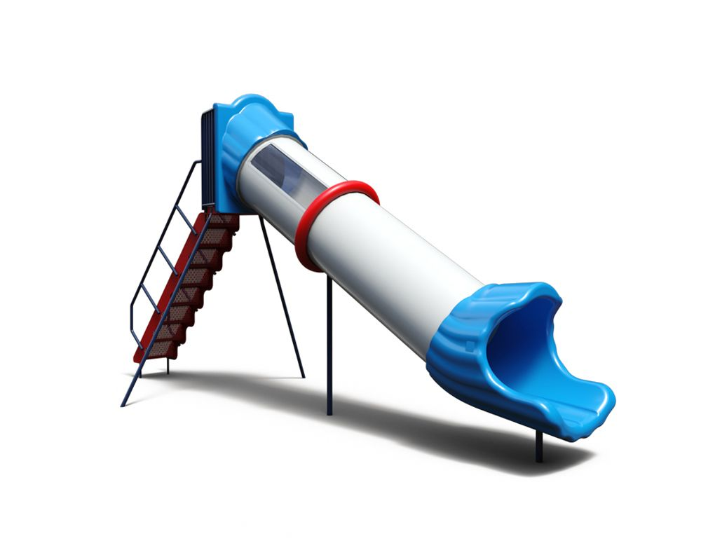 Straight Tube Slide (30″ dia.) with PVC Steps