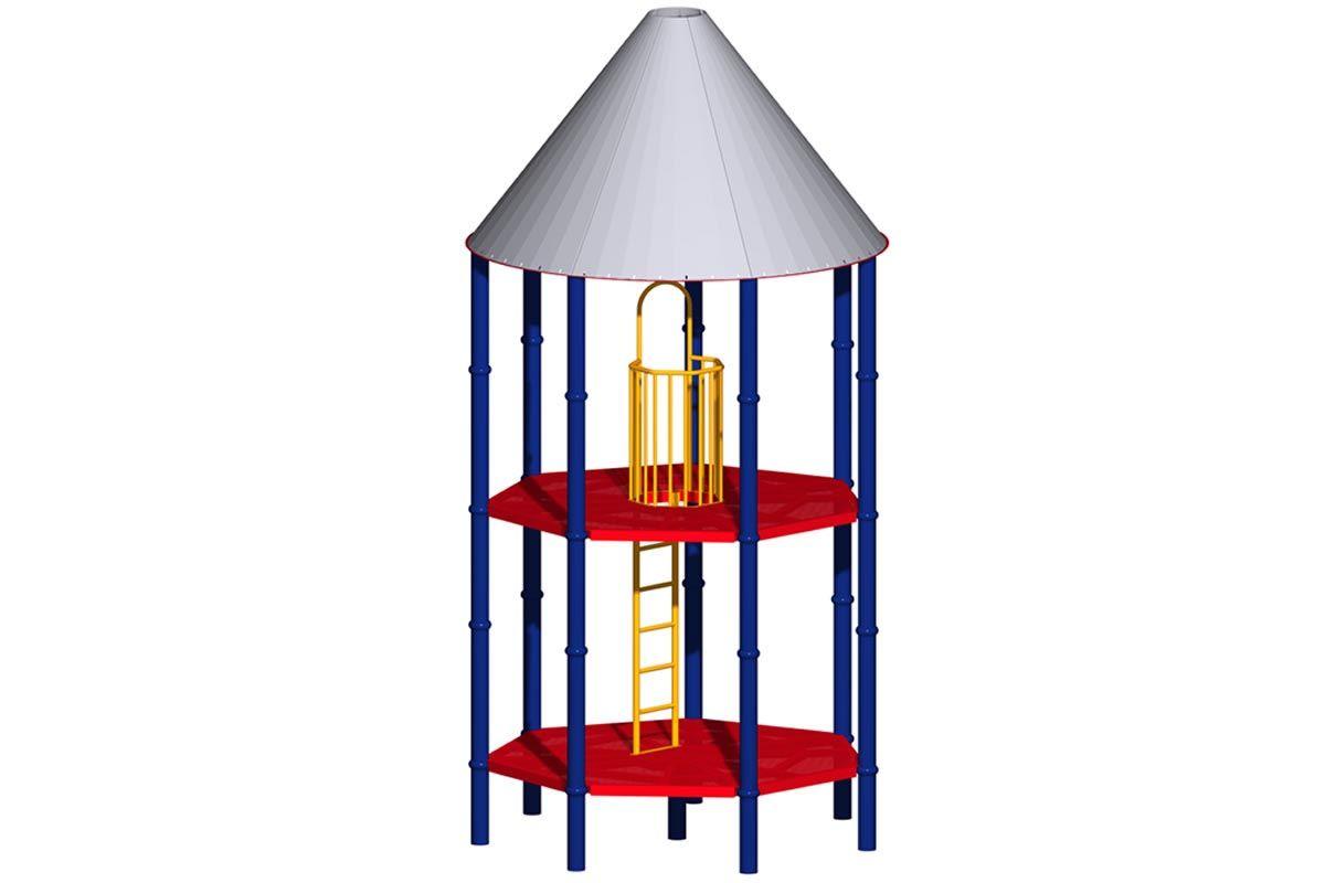 Heptagon Mega Tower, 2 Deck Levels