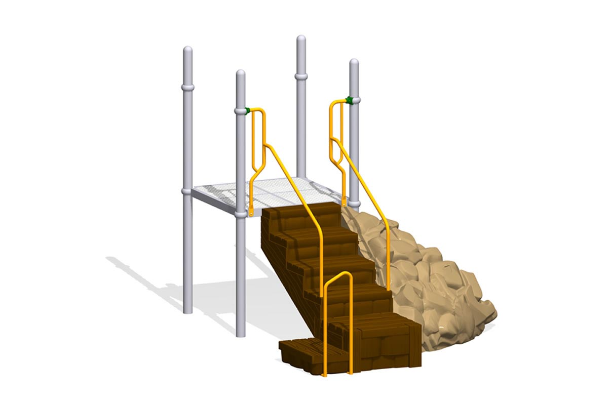 Big Timber Transfer Point with Rock